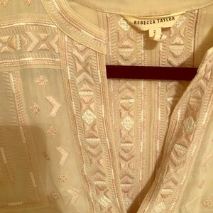 Rebecca Taylor embroidered silk blouse